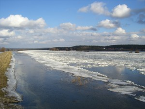 Frühjahrshochwasser an der Oder